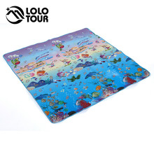 Outdoor Camping Picnic Beach Mat Moisture Sleeping Bed Pad 1.8*1.8m Waterproof 6 Color Children Crawling Blanket Coussin Tarp(China)