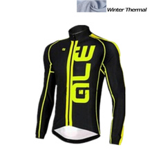 ALE Winter thermal fleece cycling jersey long ropa ciclismo mtb bike clothes cycling clothing popular style