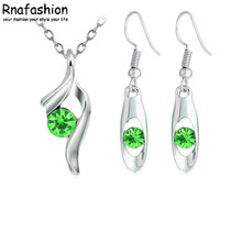 Minimalist fashion jewelry earrings + pendant piece suit set wholesale 008+047