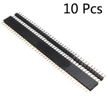 10Pairs/20Pcs 40Pin 2.54mm Single Row Straight Male+Female SIL Pin Header Socket Row Strip PCB Connector Hot Sale for Arduino(China)