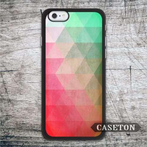 Green Red Geometric Case For iPhone 7 6 6s Plus 5 5s SE 5c 4 4s and For iPod 5 Ultra Lovely Classic Cover
