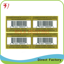 Customized High quality custom self adhesive serial number sticker labels(China)