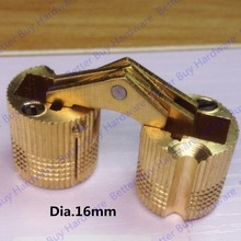 Dia. 14mm/16mm Brass  Hidden Hinges Barrel Hinge Invisible furniture hinge