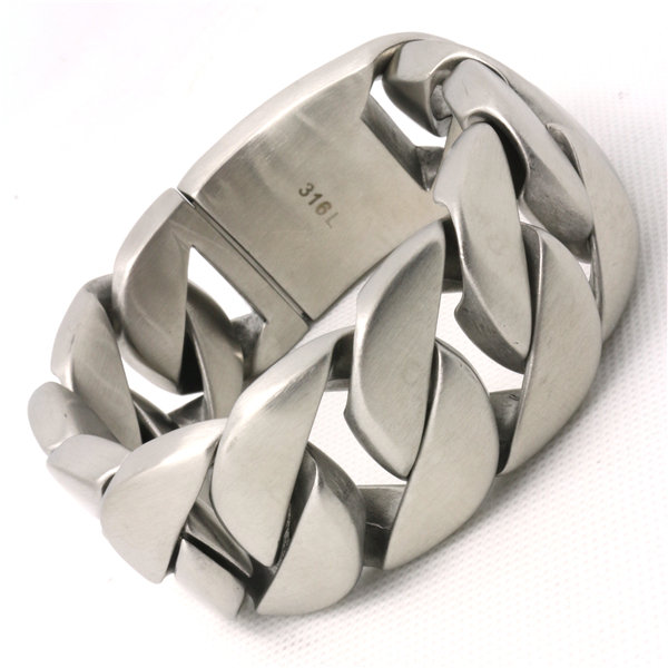 333 g  New Arrival Valentine's Day Gift Mens Boys Huge & Silver 316L Stainless Steel Dull Polish Biker Bracelet New Arrival