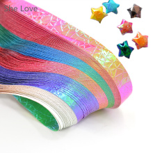 She Love 90 Pcs Cute Folding Kit Lucky Origami Wish Star Paper Strips Papers Crafts Gift(China)