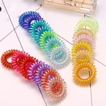 2017 New Hot Fashion Elastic Headband For Girl Women Super Bright Telephone Wire Headbands Hair Accessories Mini traceless Rope(China)