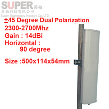 14dbi dual polarization +45&-45 deg 2.3-2.7G Panel antenna 2.4G wifi antenna Base station use antenna FDD 4G antenna TDD antenna
