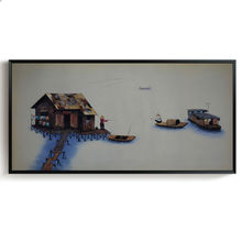 Oil Painting on Canvas Landscape Vietnam style Art Painting Hand painted Wall Pictures For Living Room Decor Paintings Modern