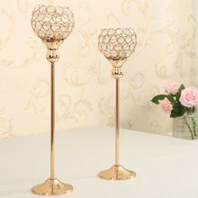 Gold Metal Candle Holder Stand Wedding Candelabra Tea Light Candlestick Holder for Home Decoration