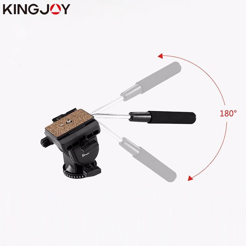 KINGJOY VT-1510 Panoramic Tripod Head Hydraulic Fluid Video Head For Camera DSLR