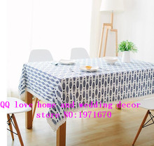 Small fresh Linen Tablecloth American Pastoral table cloth are long square tablecloth size table cloth tablecover square(China)