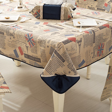 New ZAKKA Japan Korea Style Cotton Linen Table Cloth Blue Pink Orange  Check Four Designs Summer Lace Tablecloth on the Table