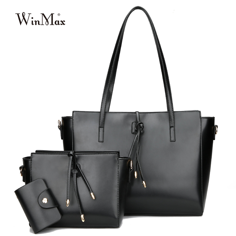 Winmax Womens casual tote big Crossbody Messenger Bags Set High Quality Female Shoulder bag New Designer Totes Top- Handle<br>