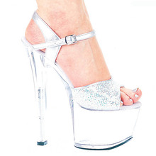 17 cm high heels and sexy shoes stage crystal high-heeled sandals night high heel fashion shoes