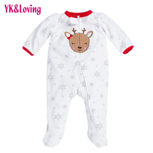 Buy Newborn Thicken Warm Romper Boy/Girl Christmas Deer Long Sleeve Overalls Baby Autumn/Winter Jumpsuit One-pieces Infantil Clothes for $13.48 in AliExpress store