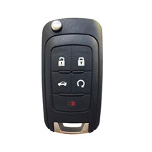 New Flip Folding 5 Button Uncut Remote Car Key Fob 433MHz ID46 Chip For Buick(China)