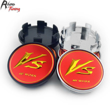 Rhino Tuning 4PC 54mm VS Work Emblem Car Wheel Center Cap Auto Styling Wheel Centre Hub Cap For Rouge Altima Escape Fusion 820(China)
