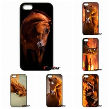 Entropy horse brown Mustang Pattern Phone Cover For iPhone 4 4S 5 5C SE 6 6S 7 Plus Samung Galaxy J5 J3 J7 A5 A3 S7 S6 Edge