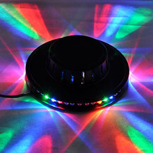 Home Entertainment 48LEDs RGB Stage Light Lamp Disco Bar DJ Home Party Rotating Lighting Tornado Lamp