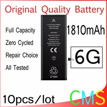 10pcs/lot Original Quality 0 zero cycle Battery for iPhone 6 6G 1810mAh 3.82V Replacement Repair Parts