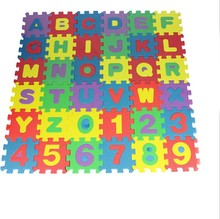 36pcs/set Unisex Mini Puzzle Kid Educational Alphabet Letters Numeral Foam Mat baby Puzzles toy
