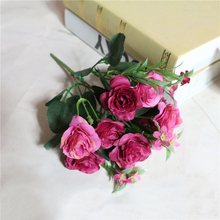 1pcs/lot Fresh Rose Artificial Flowers Real Touch Rose Flowers Artificial Flowers Cheap Home Decorations for Wedding Party(China)