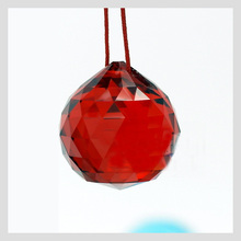 Red crystal chandelier Ball  Pendant Parts, Feng Shui ball Crafts 4PCS/lot, 30mm Red hanging crystals for wedding Suppies