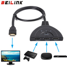 High Quality hdmi hub 3 Port 1080P  HDMI Switcher Switch Splitter Hub with Cable for PC TV HDTV DVD  Xbox 360 Cable box