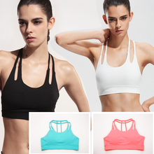 Women Sexy Yoga Shirt Padded Sports Bra Push Up Fit Tank Tops For Running Fitness Gym Bras B2C Shop(China)