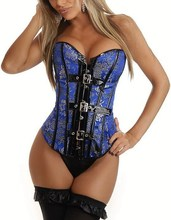 Leather Burlesque Overbust Gothic Body shaperwear tops UK Embroidery weight loss corset espartilho cinta modeladoras body