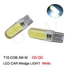 4/10 Pcs Car White Warm Red Green Pink Ice Blue LED Light COB 3W LED PCB T10 W5W 147 Wedge Door Instrument Side Bulb Lamp DC 12V