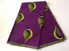 new coming African JAVA wax fabric,fashion style real cotton wax prints fabric for party dress! PURPLE A22
