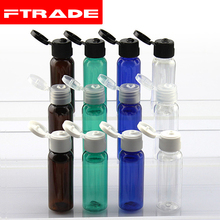 (50pcs/lot)20ml shampoo plastic travel bottles with flip top cap,refillable travel shampoo packaging PET bottles