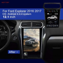 Car PC PAD Tesla Style Multimedia Player Android 4.4.4 GPS Navigation For Ford Explorer 2016 2017 Retail/Pc Free Shipping