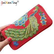 Oxford Women Peacock Wallet Luxury Handbags Designer Card Holder Coin Clutch Organizer Storage Student Purses Case Baobao C(China)