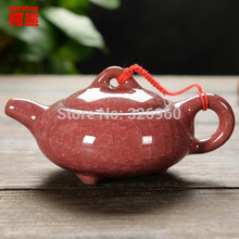 CJ238 Different Colours Handmade Chinese Traditional Calving Glaze Ceramic Tea Service Pottery Teapot Kettle Chinaware