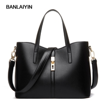 Fashion Brand Women PU Leather Classic Handbags Satchel Bags Cross Body Shoulder Bags Ladies Large Tote Bag(China)