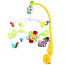 Colorful Baby Infant Musical Rotating Mobile Rattle Toy Battery-operated Hanging Bed Bell Great Helper for the Mother Kids Toys(China)