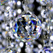 Top Quality, Clear Crystal Chandelier Lamp Ball,Window Suncatchers Hanging Christmas Ornament,Crystal Faceted ball Free Shipping