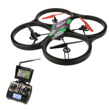 Professional WLtoys V666 5.8G FPV 6 Axis 4CH RC Big Quadcopter UFO Drone With 2.0MP HD Camera and Monitor RTF hexacopter(China)