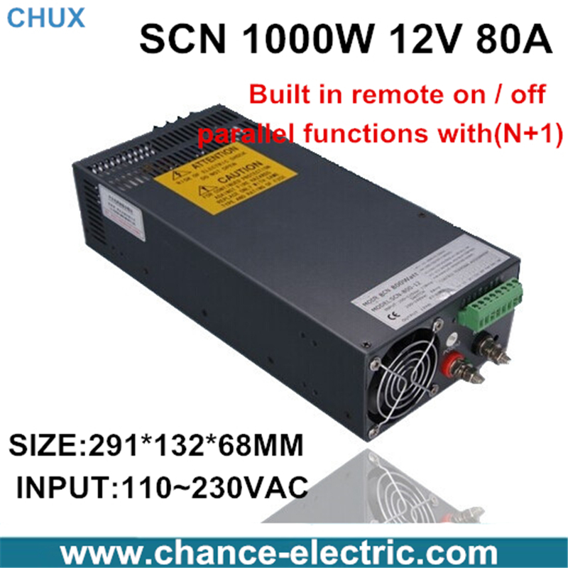 12v  80a switching power supply  SCN 1000W 110-220VAC SCN single output input  for cnc cctv led light(SCN-1000W-12v)<br><br>Aliexpress