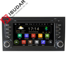 Wholesale! Two 7 Inch Android Car DVD Player Video For Audi/A4/S4 2002-2008 Quad Core CANBUS Wifi GPS Navigation FM Radio Map
