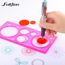 Fulljion Children Spirograph Geometr Ruler Drawing Toys Set Learning Education Painting Drafting Tool Stationery School Supplies
