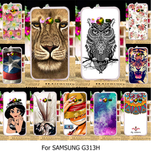 Silicone TPU Hard Plastic Case For Samsung Galaxy ACE 4 NXT G313 G318H G313H Ace 4 Lite SM-G313H Neo Duos DS 4.0 inch Case Cover