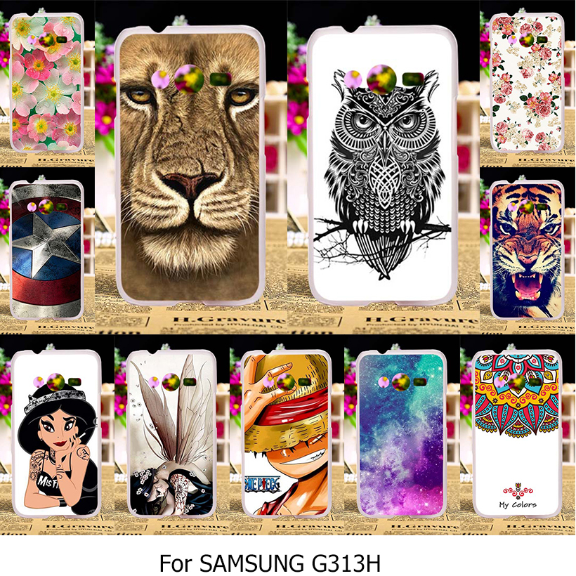Silicone TPU Hard Plastic Case For Samsung Galaxy ACE 4 NXT G313 G318H G313H Ace 4 Lite SM-G313H Neo Duos DS 4.0 inch Case Cover(China (Mainland))