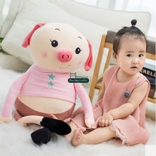 Dorimytrader New Funny Soft Cartoon Piggy Plush Toy Stuffed Giant Animal Pig Doll Baby Present 39inch 100cm DY61743(China)
