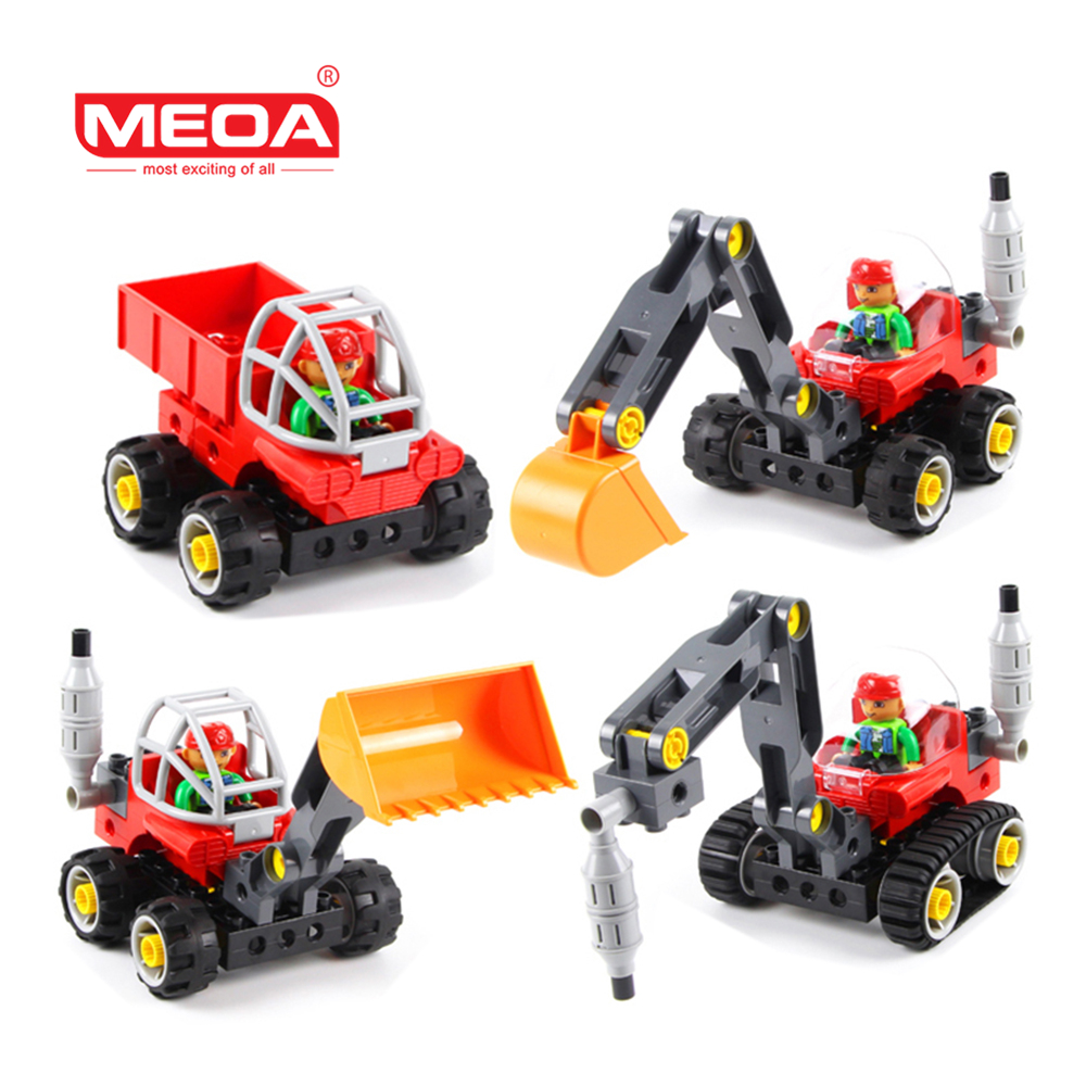 Educational Toy 42pcs Big Block Building Bricks 5 in 1 technical vehicle Model Building Kits Compatible with Logo Duplo blocks<br>