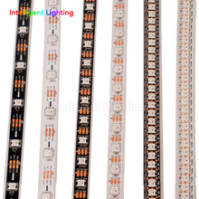 1m/5m 30/60/144leds/m WS2812B led strip light White PCB IP30/IP65/IP67 Waterproof DC5V