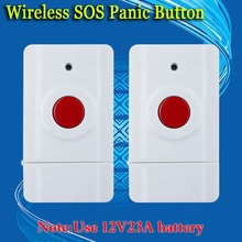 free shipping! Wireless Emergency Panic Button For Our Alarm System 433MHz 2 PCS Key Alert 433MHz