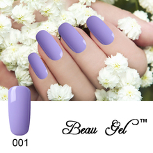 Beau Gel Top Coat and Base Coat 10ML Long lasting Bling Pink Purple Soak Off Varnish Manicure Gel Lacquer Nail Polish